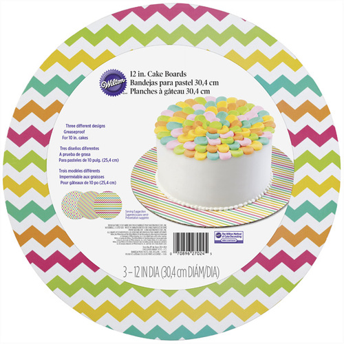 Assorted Brights Round Cake Board Set