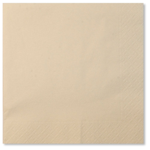 Cream 3 ply Napkins - 33cm x 33cm