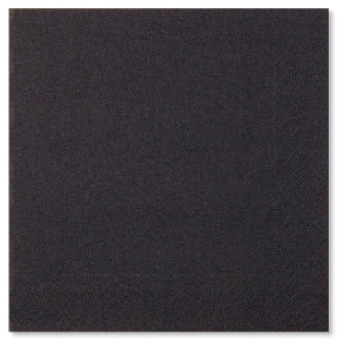 Black 3 ply Napkins - 33cm x 33cm