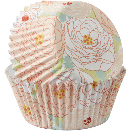 Pastel Peony Colourcups Baking Cups
