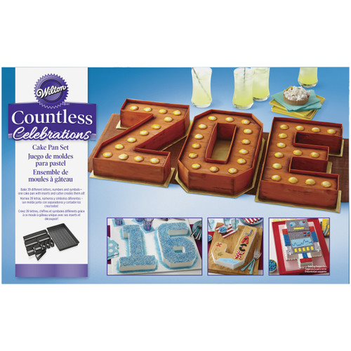 Create a personalised cake with letters and numbers using the one pan set!