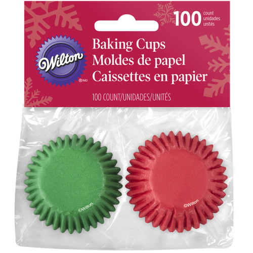 Red and Green Mini Baking Cups 100pc