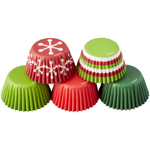 Holiday Mini Baking Cups Tube Set