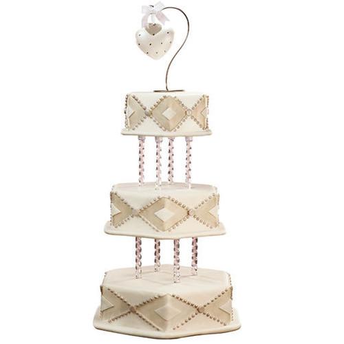 Rhinestone Heart Ornament Topper