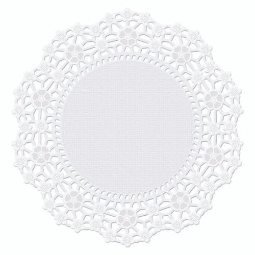 """6"""" White Round Doilies"""