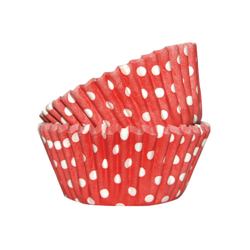 Red Spotty Mini Baking Cups