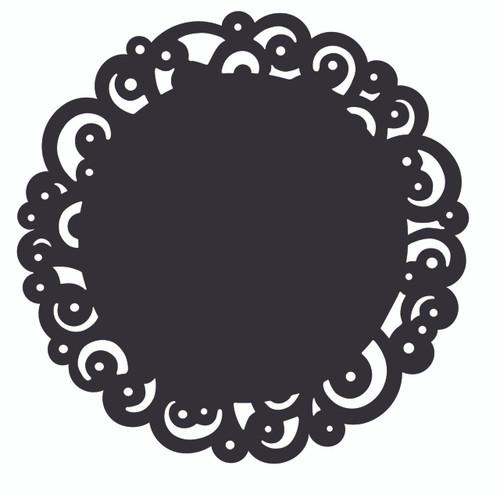 Black Swirl Doily 8 Inch
