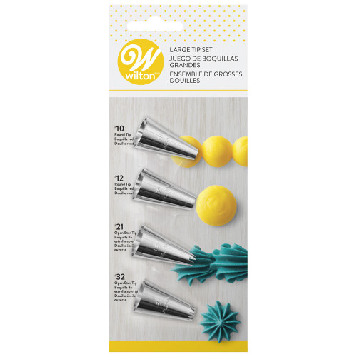 4pc Large Icing Tip Set