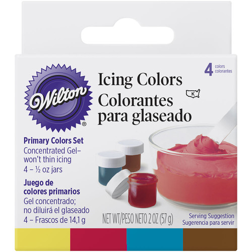 4pc Primary Icing Colour Set