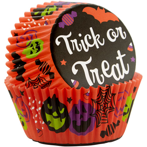 Trick or Treat Standard Baking Cups 75pc
