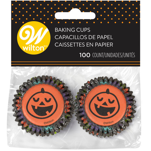 Pumpkin Mini Baking Cups 100pc