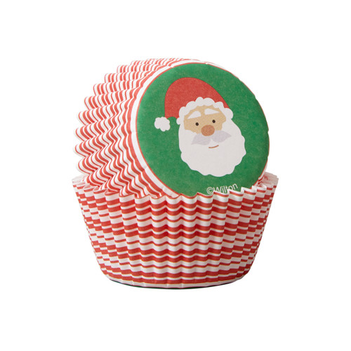 Santa Claus Mini Baking Cups 100pc