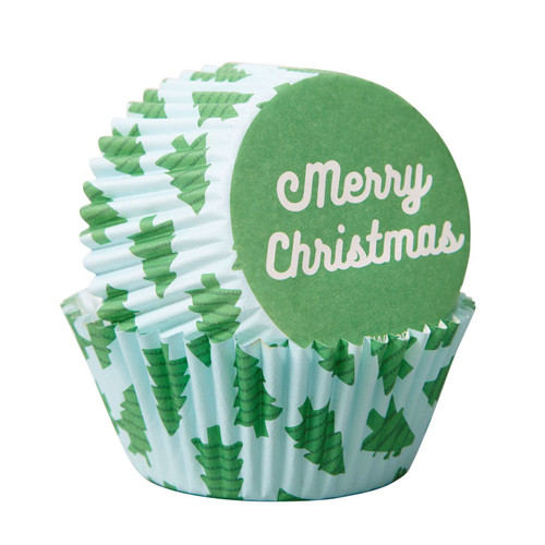Merry Christmas Standard Baking Cups 75pc