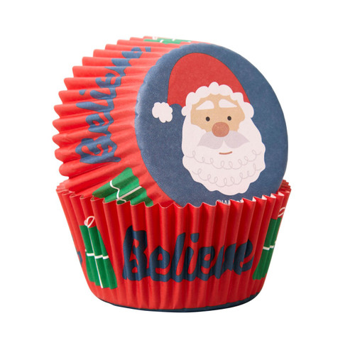 Santa Claus Standard Baking Cups 75pc