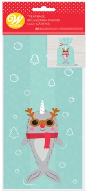 Holiday Narwhal Treat Bags