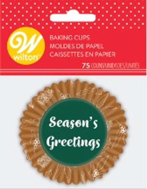 Season's Greetings std Baking Cups