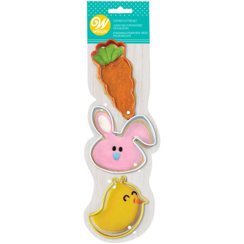 Whimsical 3pc Easter Cookie Cutter Set
