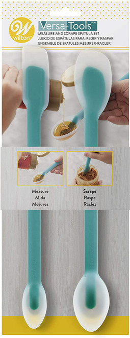 2pc Scrape and Measure Spatula Set