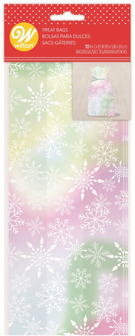 Iridescent Snowflake Treat Bag