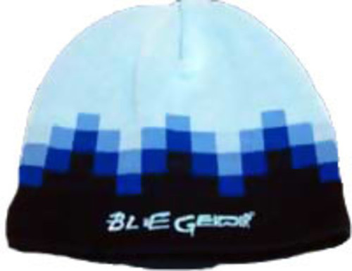 Blue Gender Cap: Blue Cube Knit Steep Cap