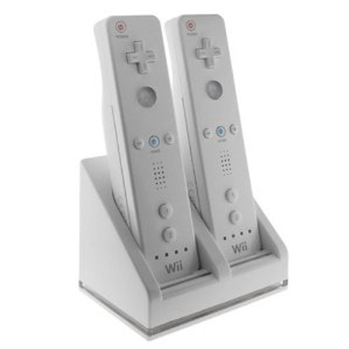 Bluelight HDE Dual Wii Remote USB Charging Station with Battery Packs