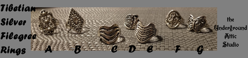 TIBETAN SILVER RING COLLECTION SIZE 7.5