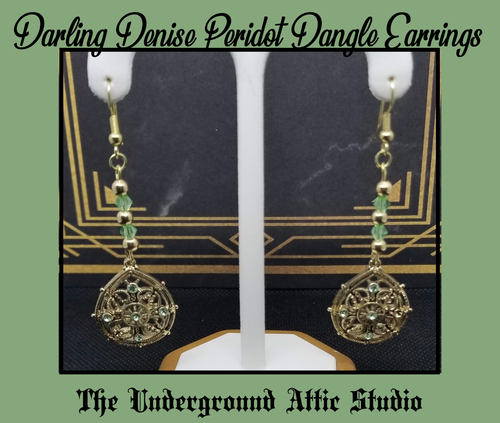 DARLING DENISE PERIDOT DANGLE EARRINGS