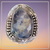 SODALITE RING OVAL RING Size 9     .925