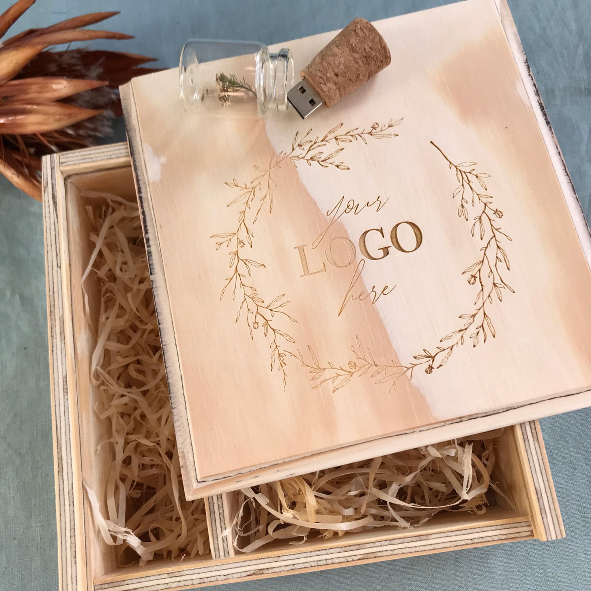 Wooden Photo Usb Gift Boxes For Photographers Keepsake Creative