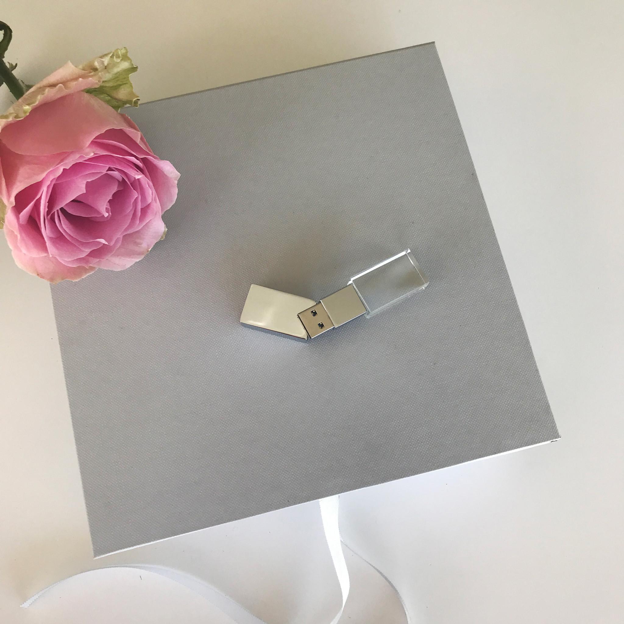 Linen Photo Usb Gift Box