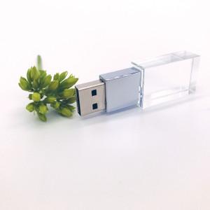 silver crystal thumb drive