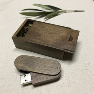 walnut wooden usb with wooden box
