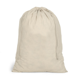 natural organic cotton canvas drawstring bag large