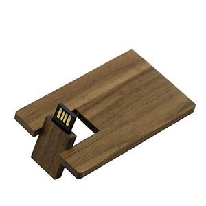 walnut wood credit card usb flash drive