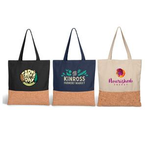 cotton canvas & cork tote bag