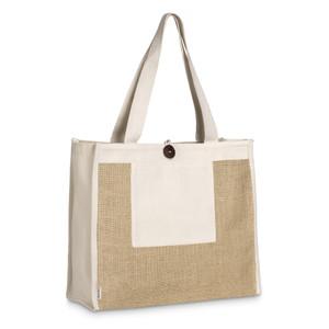 eco friendly trendy functional cotton & jute shopper tote bag