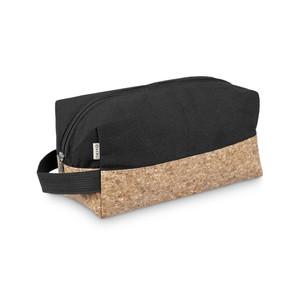 eco friendly canvas & cork toiletry bag