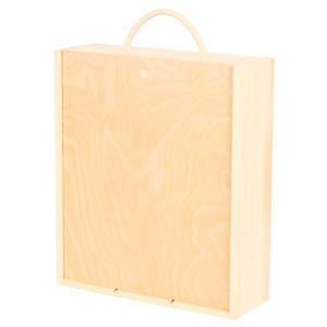 three bottle wooden wine gift box