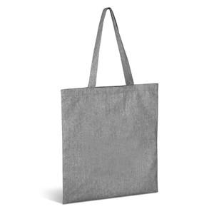 grey cotton canvas shopper tote bag