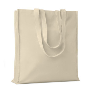 cotton shopper tote bag with gusset