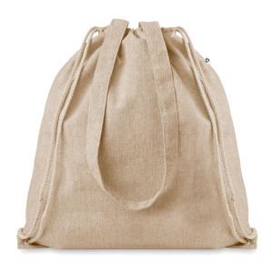 natural cotton drawstring bag with handles