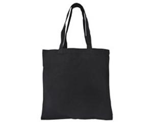 thick black cotton canvas tote bag