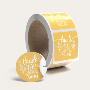 tissue paper sticker labels