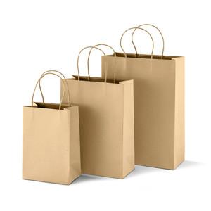 cheap kraft paper gift bags