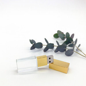gold crystal photographer flash drive