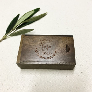 custom engraved usb wooden gift box