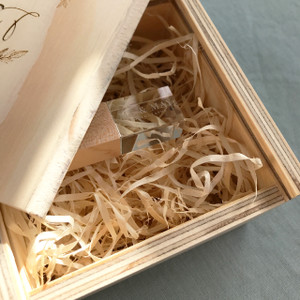 small wooden gift box for USB packaging