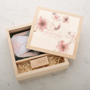 custom bespoke usb & photo wooden boxes