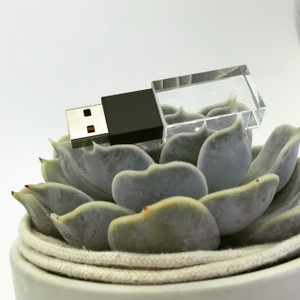 black crystal usb flash drive