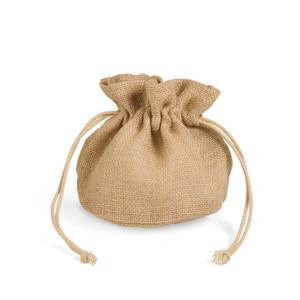 small jute hessian drawstring bag